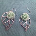 DIY: Mint Rose Dangles