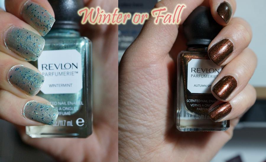 Revlon Parfumerie Swatches: Autumn Spice & Wintermint