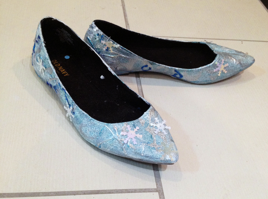 diy elsa shoes